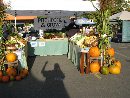 fall market booth